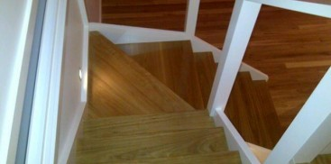 Internal Blackbutt staircase